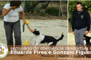 Seminário de Obediência Desportiva com Eduarda Pires e Gonzalo Figueroa